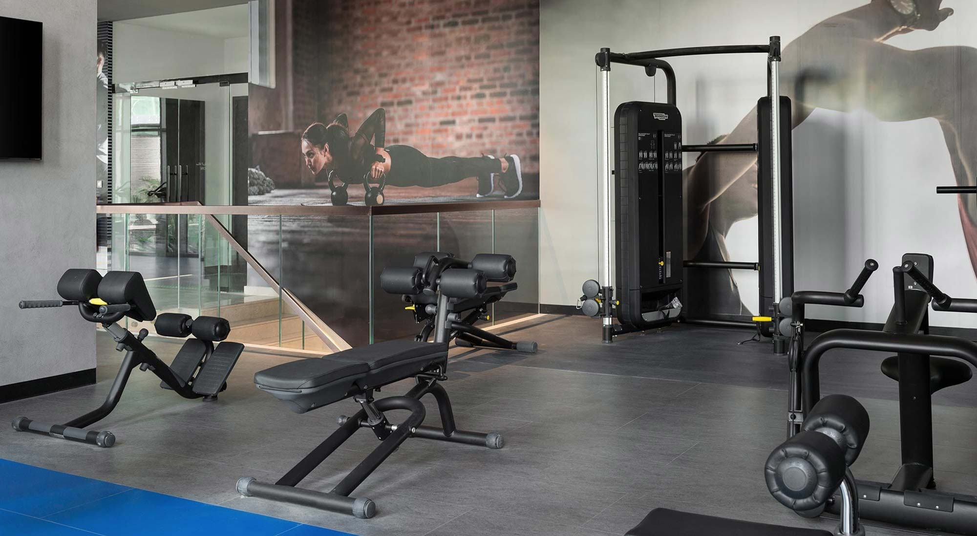 State-of-the-art gymnasium with the latest fitness equipment